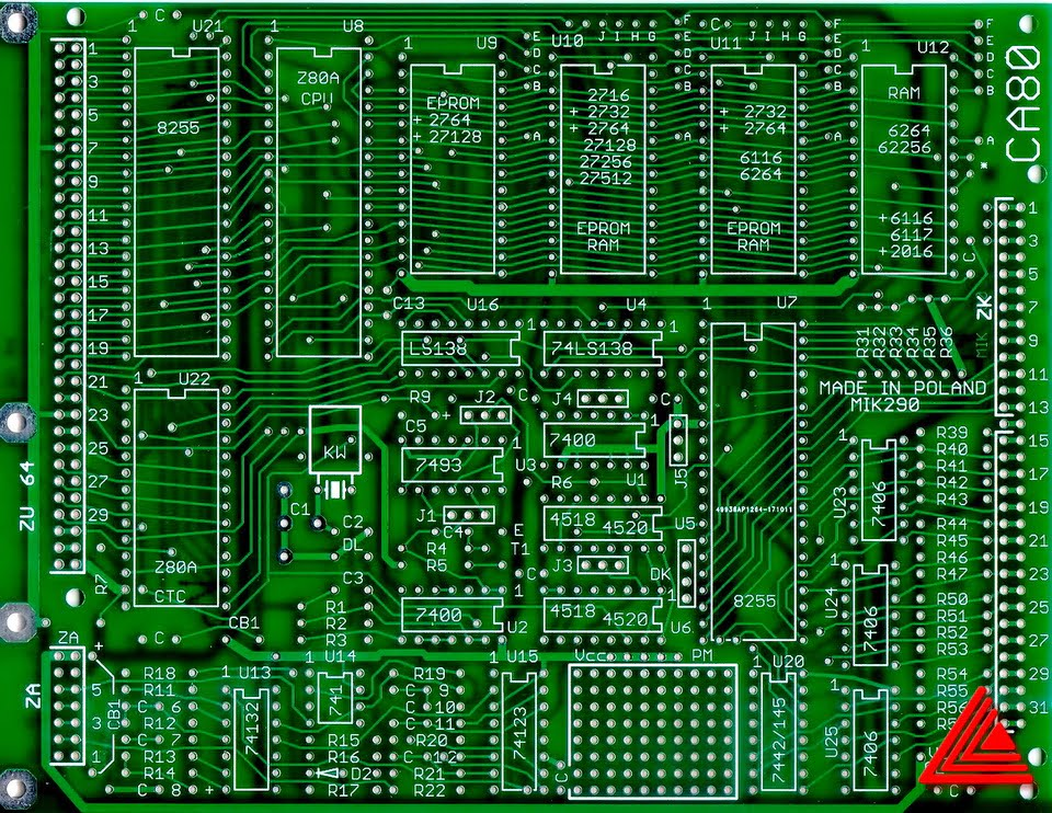 PCB MIK290 strona elementów