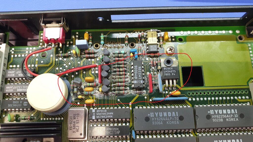 PCB CPU sterownika CP60 B&R przed naprawą